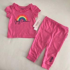 Juicy Couture Cute Rainbow pants set 0099